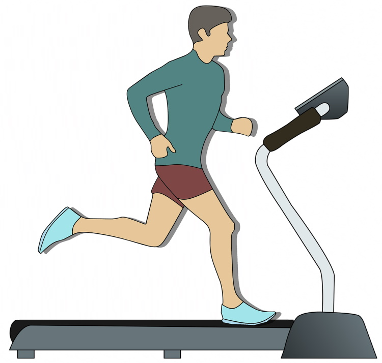Running on Treadmill Clipart