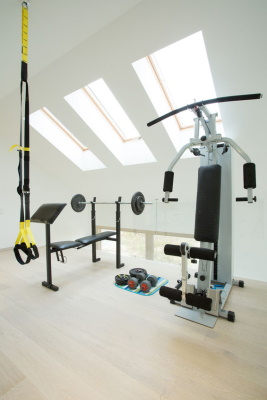 Home Gym Equipment on Upper Floor