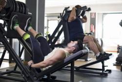 Leg Press Exercise at Gym