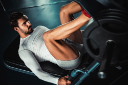 Leg Workout on Hack Squat Machine