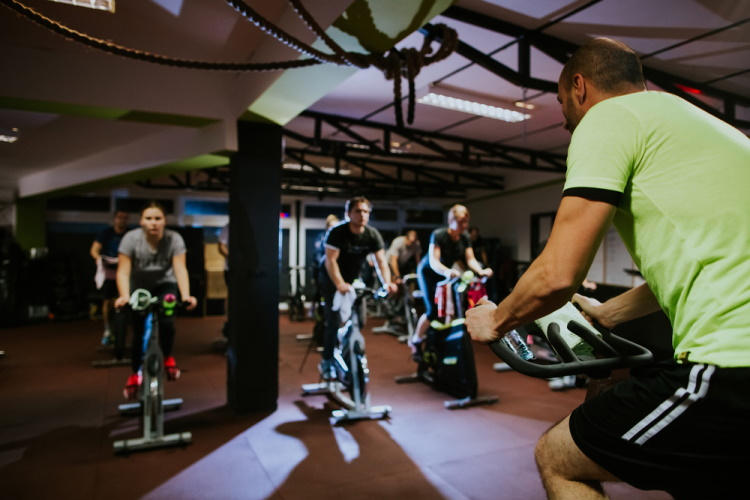 Spin Class With Instructor