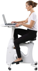 FLEXISPOT Adjustable Exercise Bike Desk Standing Desk Cycle