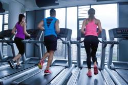 Running Intensely on Treadmill